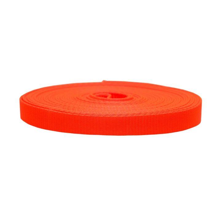 3/4 Inch Flat Nylon Hot Orange