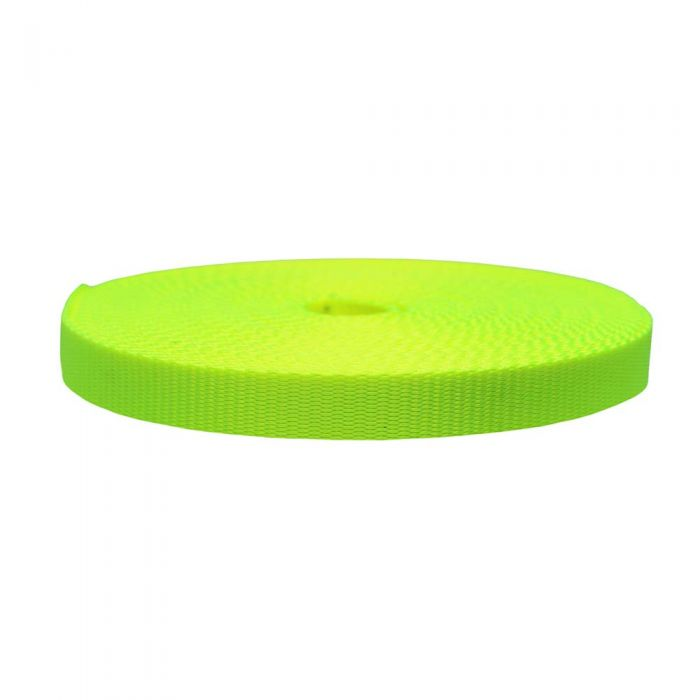 3/4 Inch Flat Nylon Hot Yellow