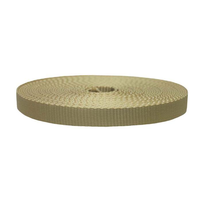 3/4 Inch Flat Nylon Khaki