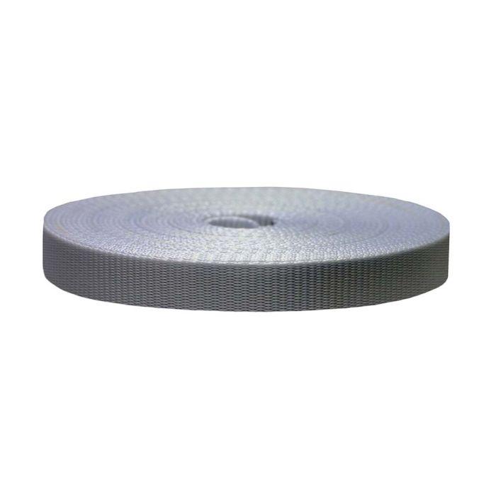 3/4 Inch Flat Nylon Silver Gray
