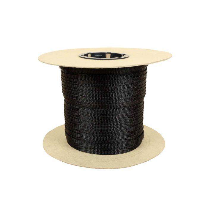3/8 Inch Flat Nylon Black