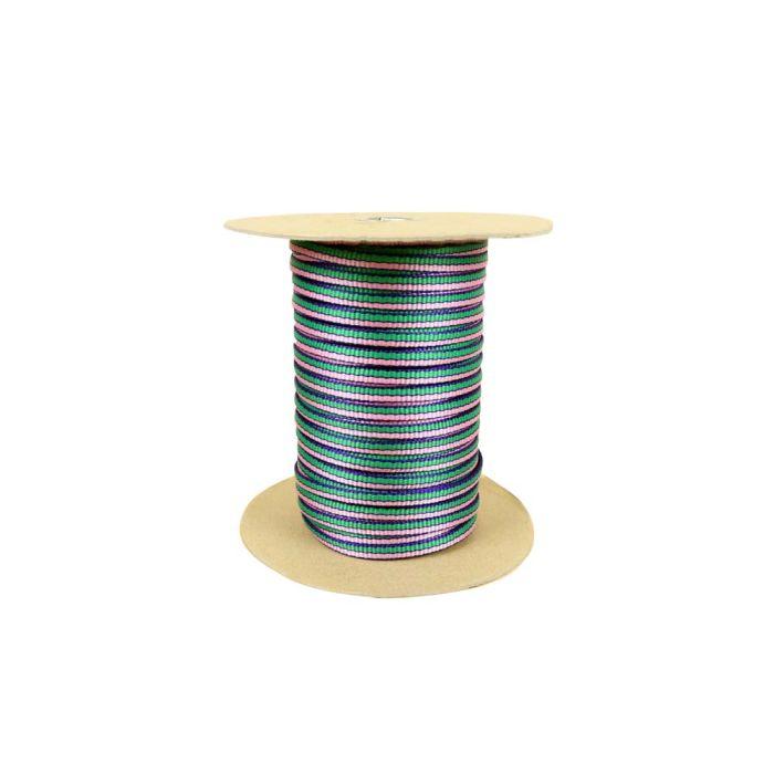 3/8 Inch Flat Nylon Double Stripe