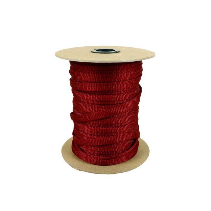 3/8 Inch Flat Nylon Dark Red