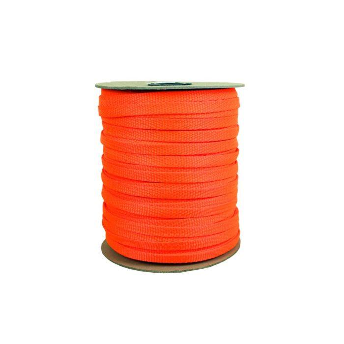 3/8 Inch Flat Nylon Hot Orange