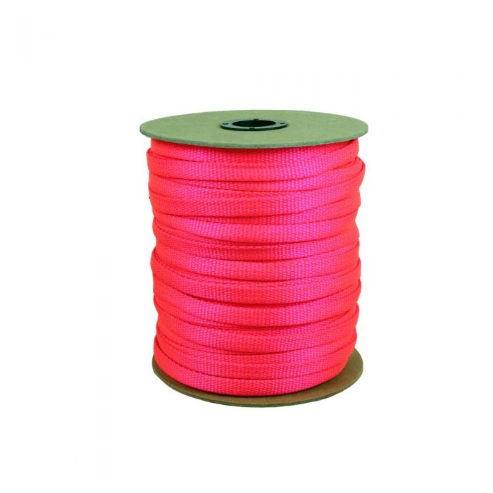 3/8 Inch Flat Nylon Hot Pink