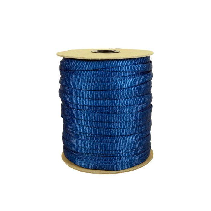 3/8 Inch Flat Nylon Pacific Blue