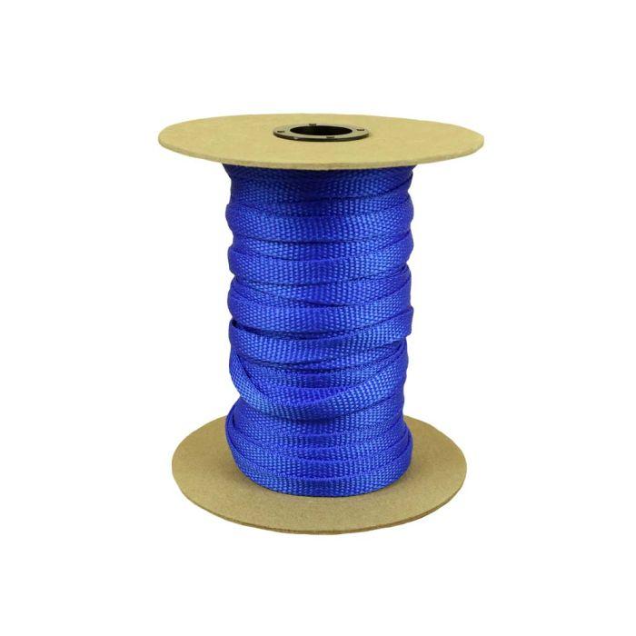 3/8 Inch Flat Nylon Royal Blue