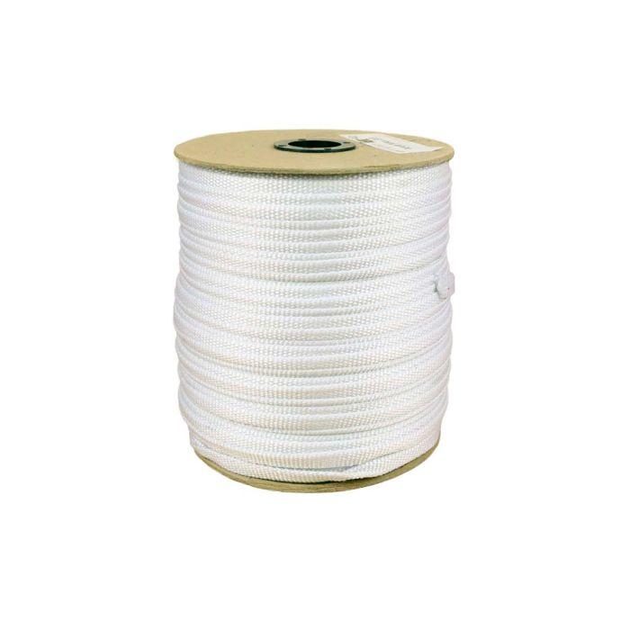 3/8 Inch Flat Nylon White