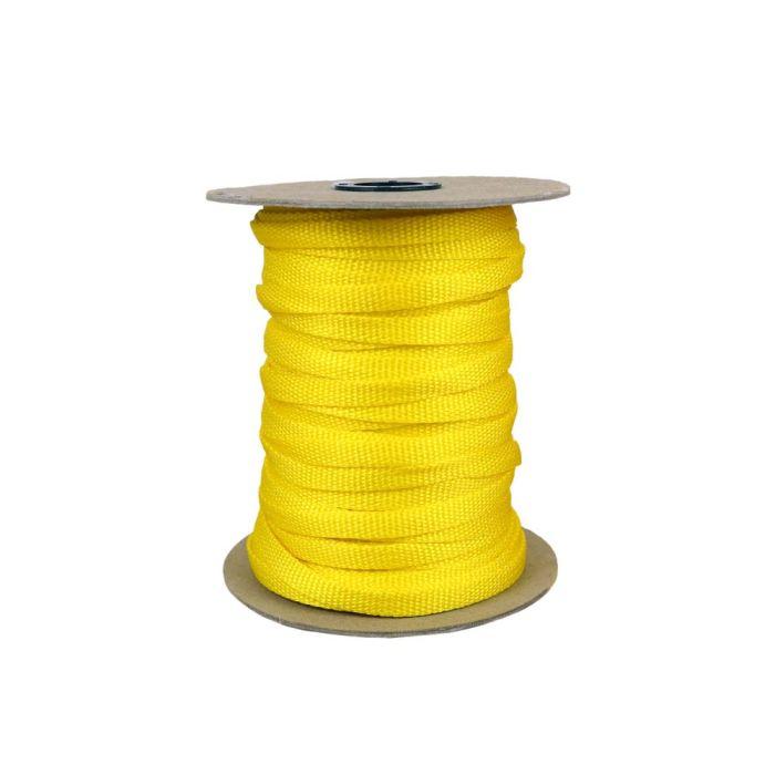 3/8 Inch Flat Nylon Yellow