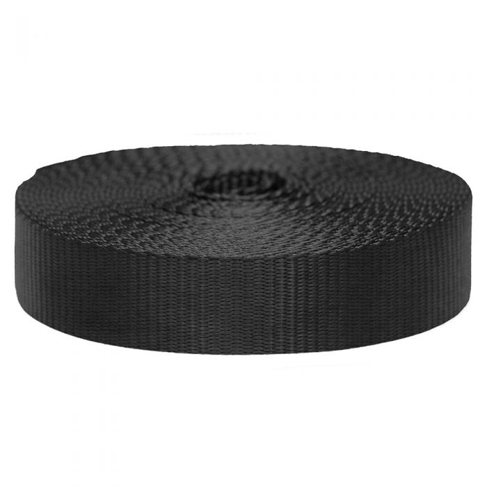1-1/2 Inch Flat Nylon Black