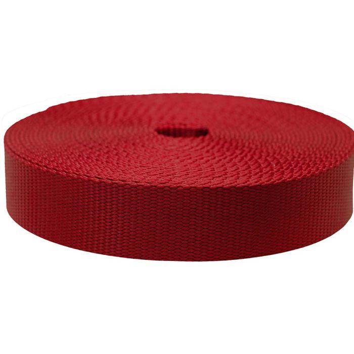 1-1/2 Inch Flat Nylon Dark Red