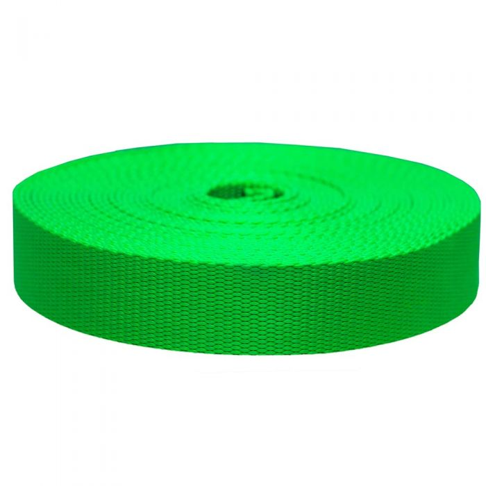 1-1/2 Inch Flat Nylon Hot Green