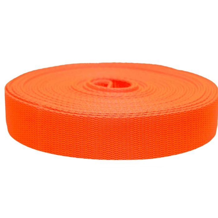 1-1/2 Inch Flat Nylon Hot Orange