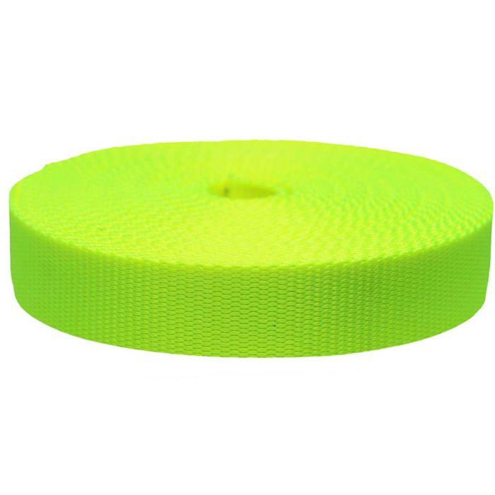 1-1/2 Inch Flat Nylon Hot Yellow