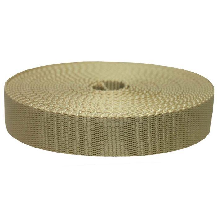 1-1/2 Inch Flat Nylon Khaki