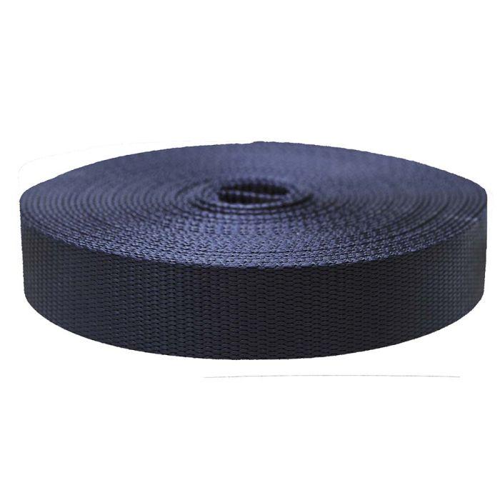1-1/2 Inch Flat Nylon Navy Blue