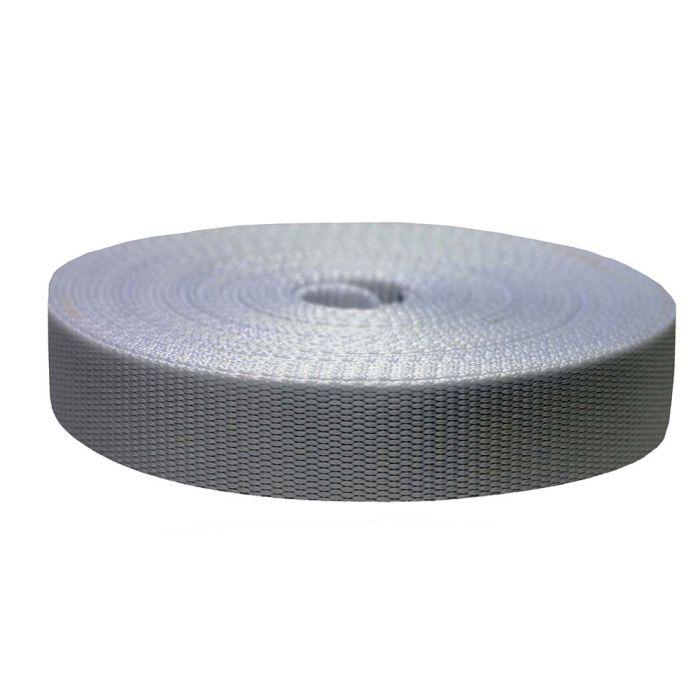 1-1/2 Inch Flat Nylon Silver Gray