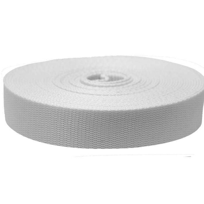 1-1/2 Inch Flat Nylon White