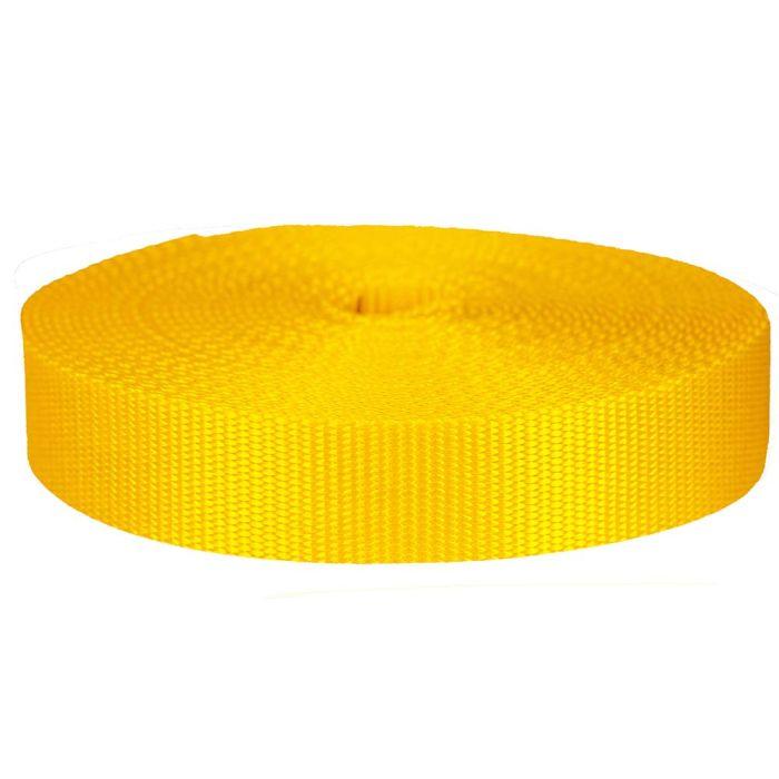 1-1/2 Inch Flat Nylon Yellow