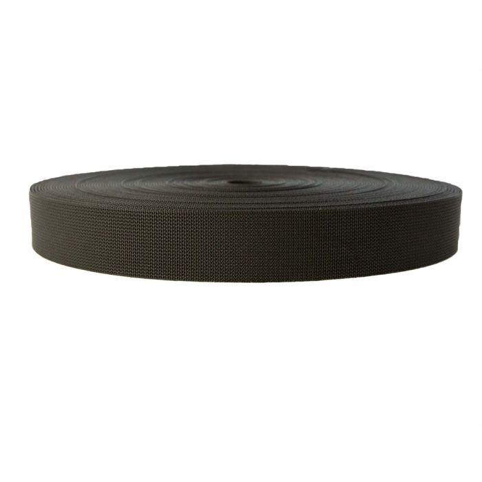 2 Inch Flat Nylon Scuba Black