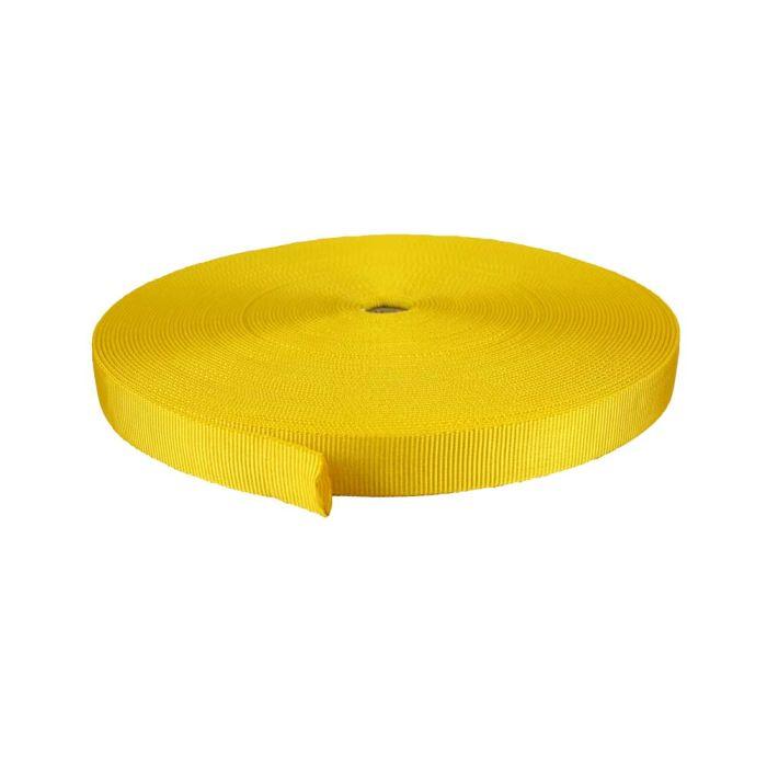 1 Inch Tubular Nylon Yellow