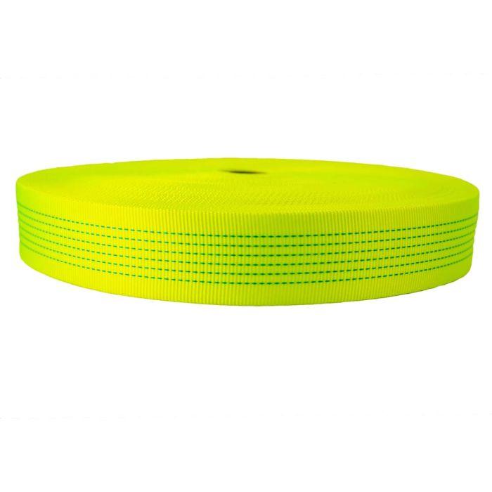2 Inch Tubular Nylon Hot Yellow