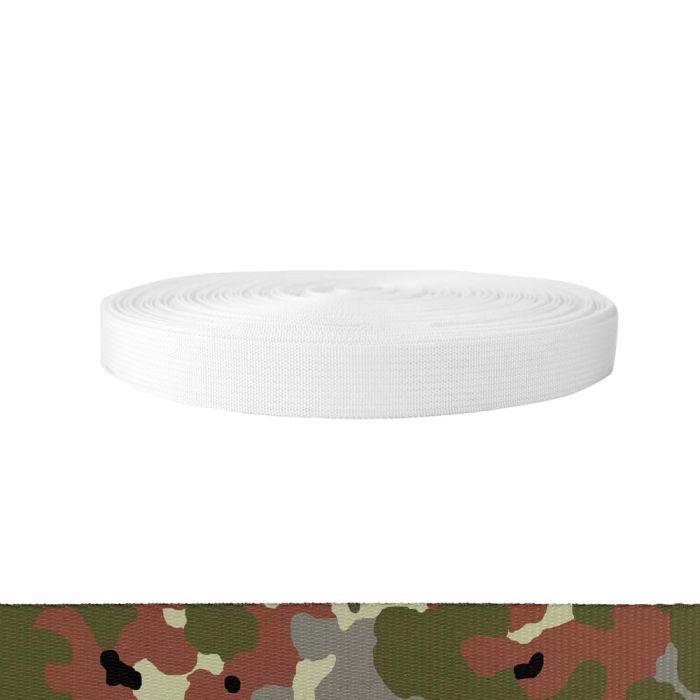 1 Inch Mil-Spec 17337 Polyester Camouflage Flecktarn