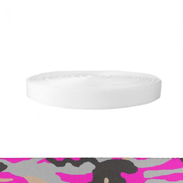 1 Inch Mil-Spec 17337 Polyester Camouflage Pink