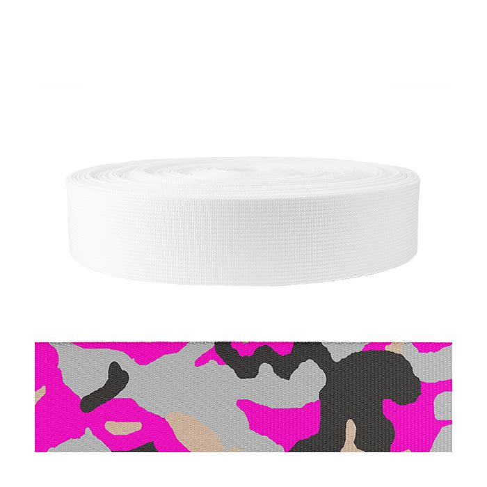 2 Inch Mil-Spec 17337 Polyester Camouflage Pink
