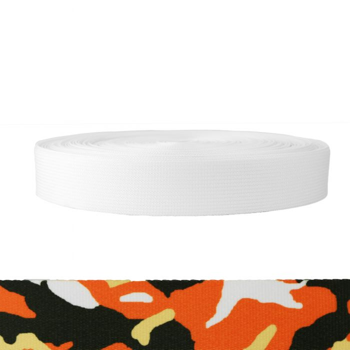 1-1/2 Inch Mil-Spec 17337 Polyester Camouflage Autumn