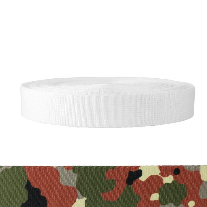 1-1/2 Inch Mil-Spec 17337 Polyester Camouflage Flecktarn
