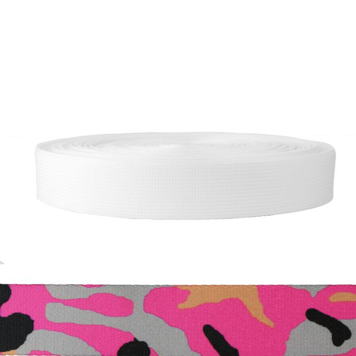 1-1/2 Inch Mil-Spec 17337 Polyester Camouflage Pink