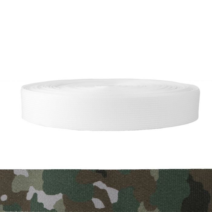 1-1/2 Inch Mil-Spec 17337 Polyester Camouflage Quadra