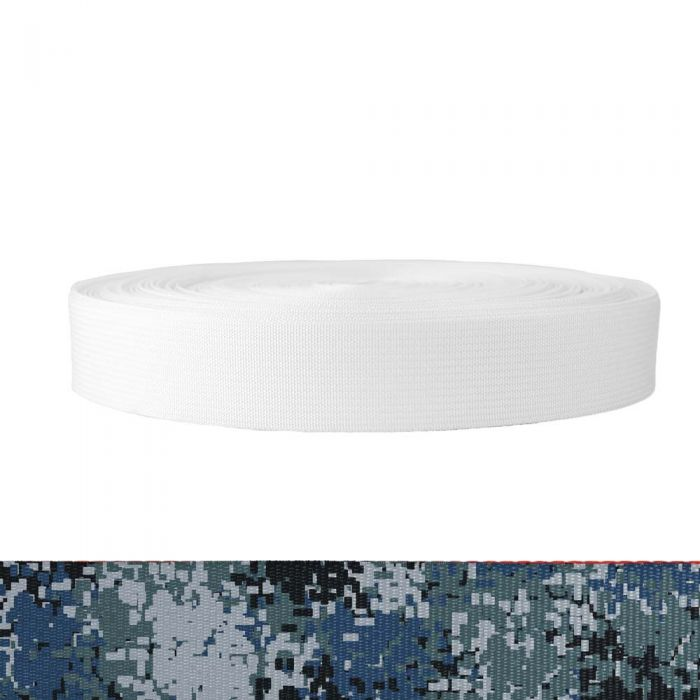 1-1/2 Inch Mil-Spec 17337 Polyester Camouflage Digital Blue