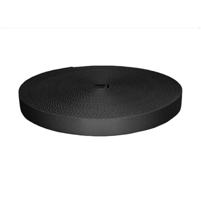 1 Inch Picture Quality Polyester Webbing Black