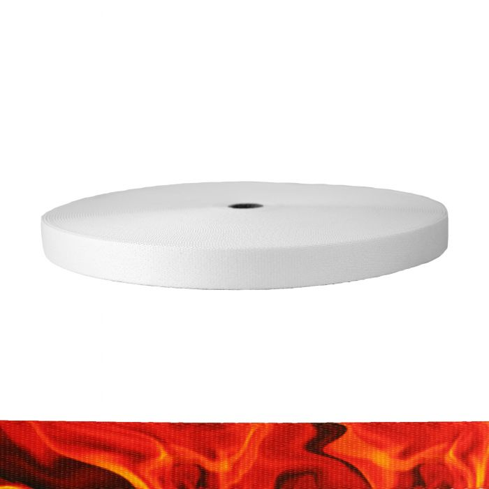 1 Inch Picture Quality Polyester Webbing Blaze