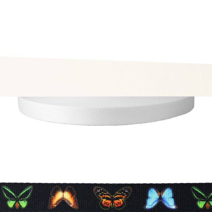 1 Inch Picture Quality Polyester Webbing Butterflies