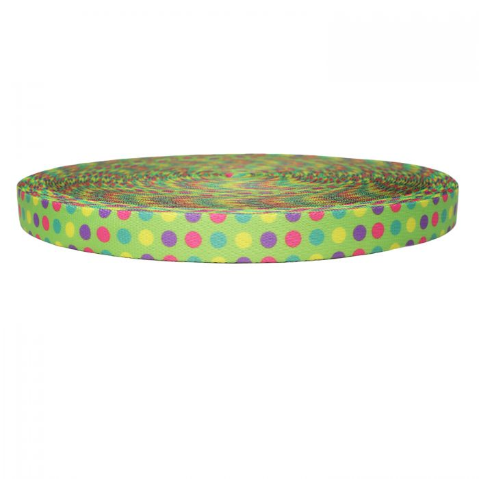 1 Inch Picture Quality Polyester Webbing Candy Dots