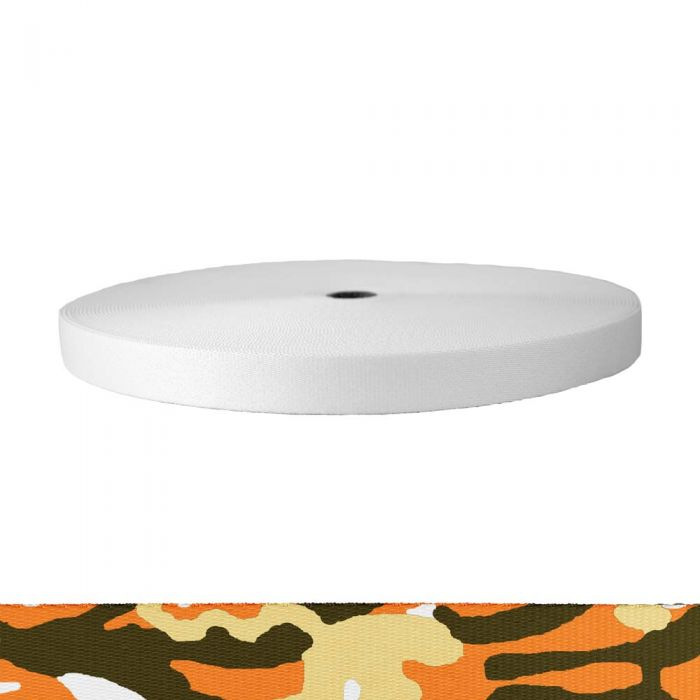 1 Inch Picture Quality Polyester Webbing Camouflage Autumn