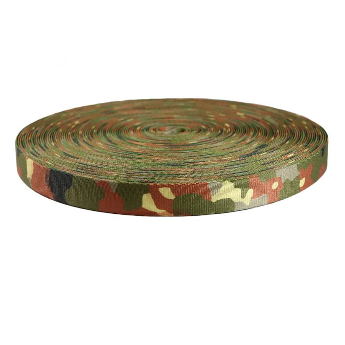 1 Inch Picture Quality Polyester Webbing Camouflage Flecktarn