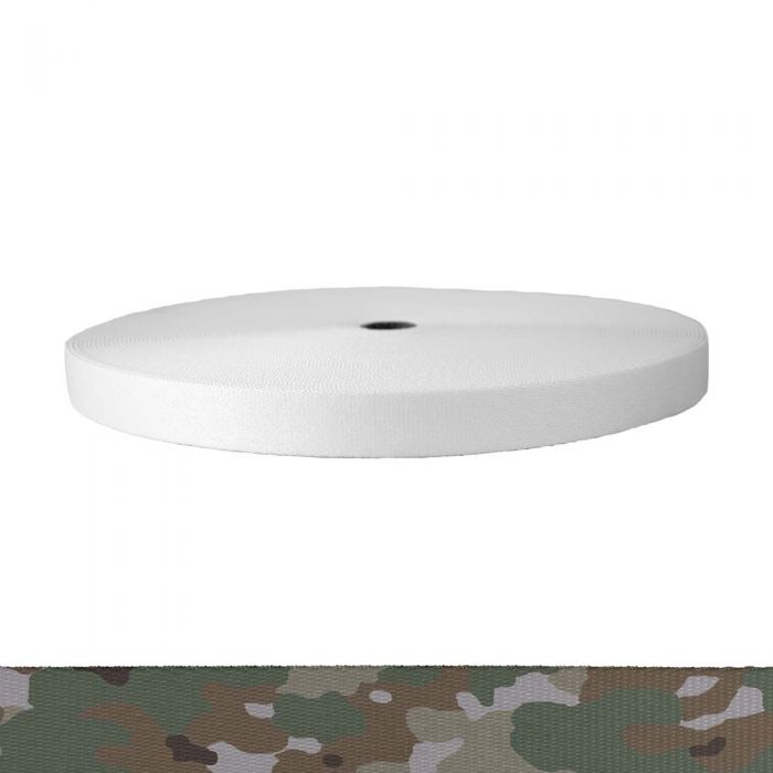 1 Inch Picture Quality Polyester Webbing Camouflage Quadra