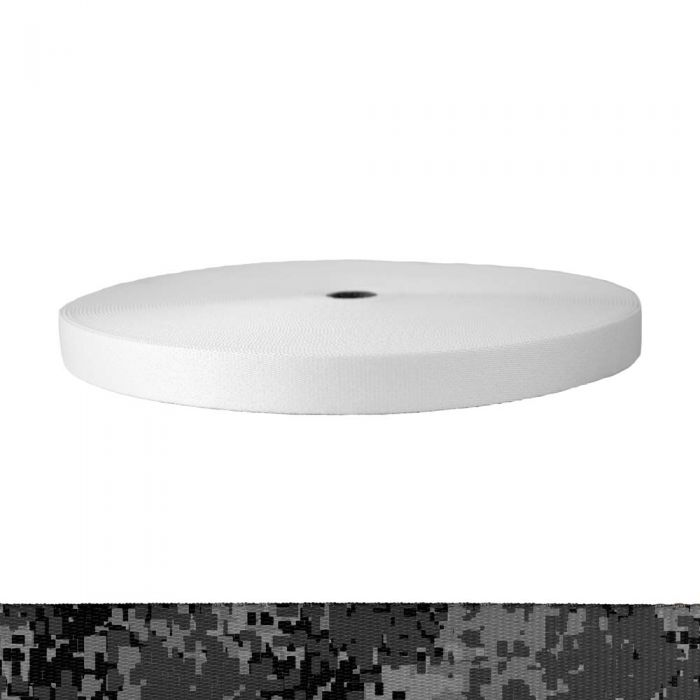 1 Inch Picture Quality Polyester Webbing Camouflage Digital Dark