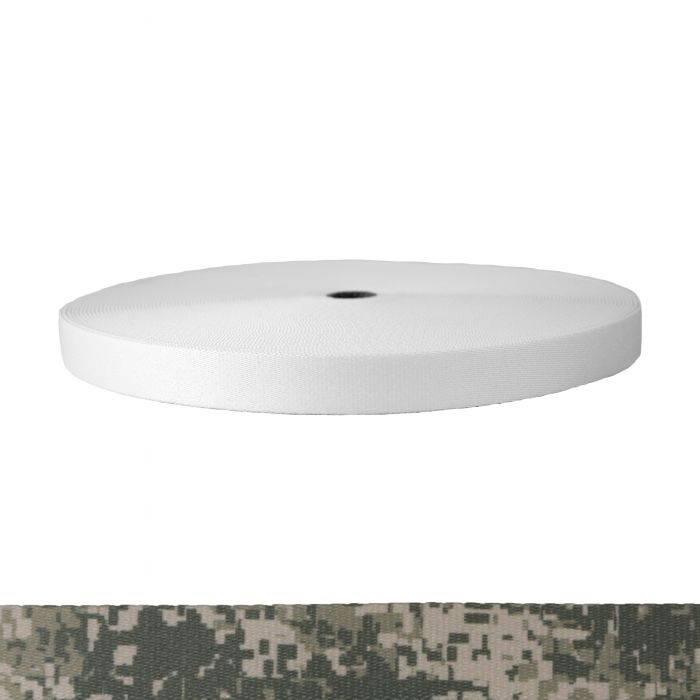 1 Inch Picture Quality Polyester Webbing Camouflage Digital Grunt