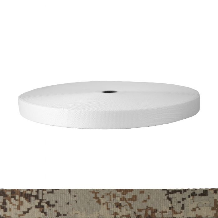 1 Inch Picture Quality Polyester Webbing Camouflage Digital Desert