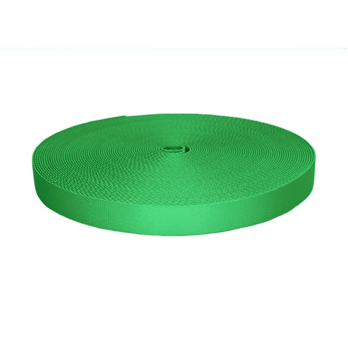 1 Inch Picture Quality Polyester Webbing Green