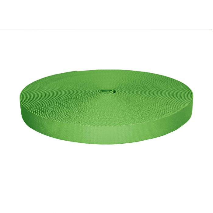 1 Inch Picture Quality Polyester Webbing Lime Green