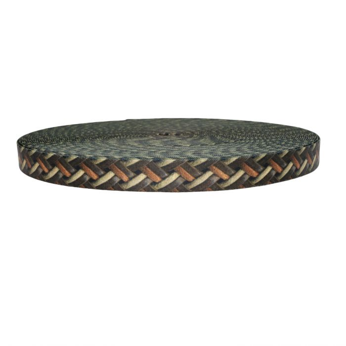 1 Inch Picture Quality Polyester Webbing Leather Weave
