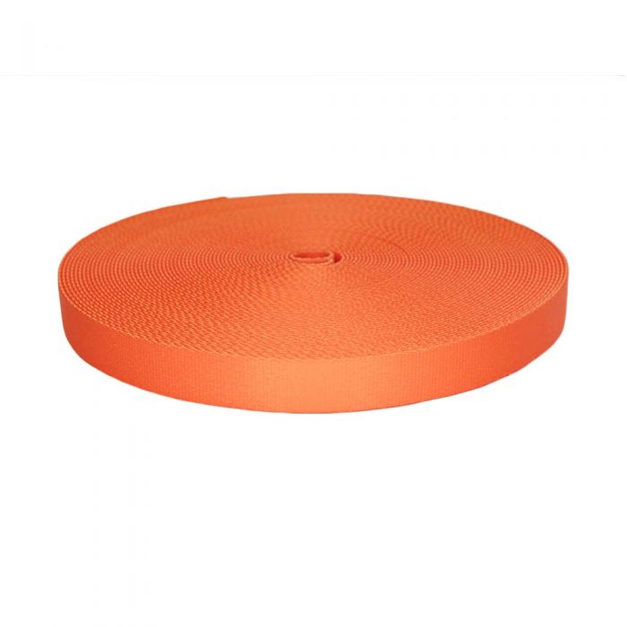1 Inch Picture Quality Polyester Webbing Orange