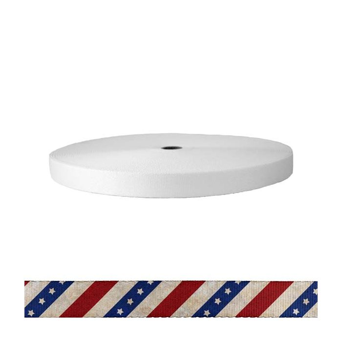 1 Inch Picture Quality Polyester Webbing Patriot
