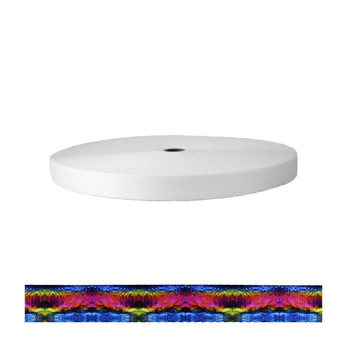 1 Inch Picture Quality Polyester Webbing Psychic Rainbow